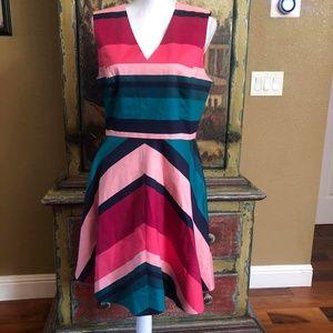 NWT Draper James  Fit Flare Love Circle Dress 14